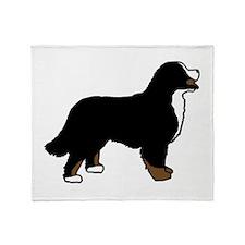 Tri Color Bernese Dog Throw Blanket