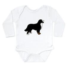 Tri Color Bernese Dog Long Sleeve Infant Bodysuit
