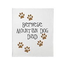 Bernese Mt. Dog Dad Throw Blanket