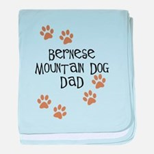 Bernese Mt. Dog Dad baby blanket