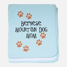 Bernese Mt. Dog Mom baby blanket
