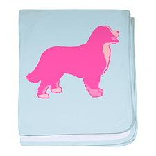 Tri Color Pink Bernese baby blanket