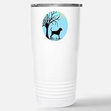 Tree & Bloodhound Dog Travel Mug
