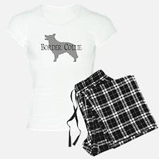 Border Collie #2 Fancy Text Pajamas