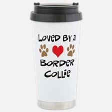 Loved By A Border Collie Stainless Steel Travel Mu