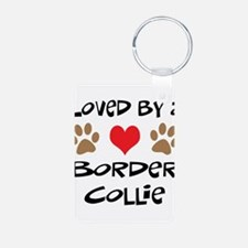 Loved By A Border Collie Keychains