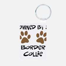 Owned By A Border Collie Keychains