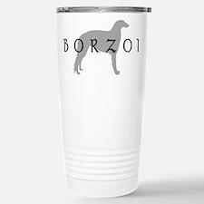 borzoi dog breed Stainless Steel Travel Mug