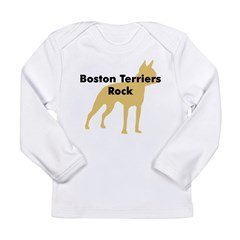 Boston Terriers Rock Long Sleeve Infant T-Shirt