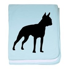 Boston Terrier baby blanket
