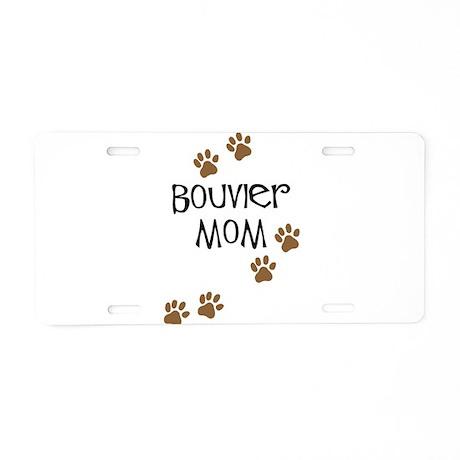 Bouvier Mom Aluminum License Plate