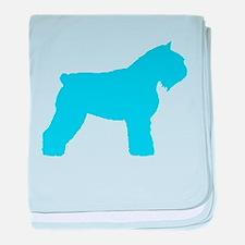 Blue Bouvier baby blanket