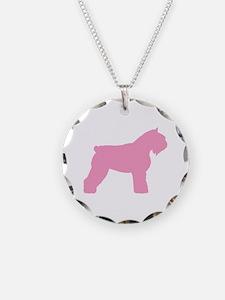 Pink Bouvier Des Flandres Necklace
