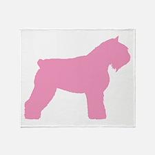 Pink Bouvier Des Flandres Throw Blanket