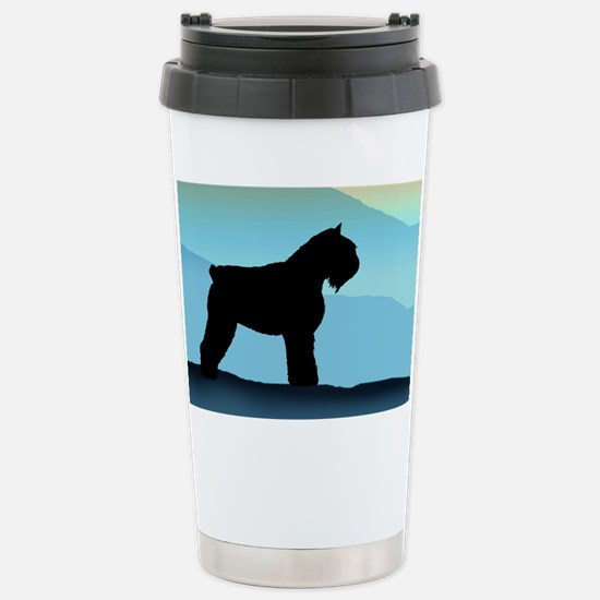 Blue Mountains Bouvier Dog Stainless Steel Travel