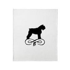 Bouvier Dog Infinity Throw Blanket