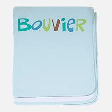Bouvier Text baby blanket