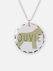 Bouvier Dog Sage w/ Text Necklace