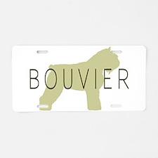 Bouvier Dog Sage w/ Text Aluminum License Plate
