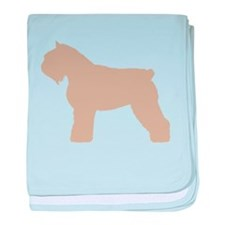 Fawn Bouvier Des Flandres baby blanket