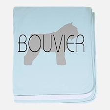 Bouvier Dog baby blanket