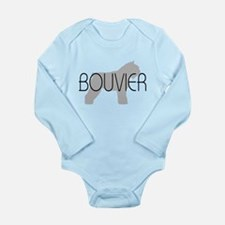 Bouvier Dog Long Sleeve Infant Bodysuit