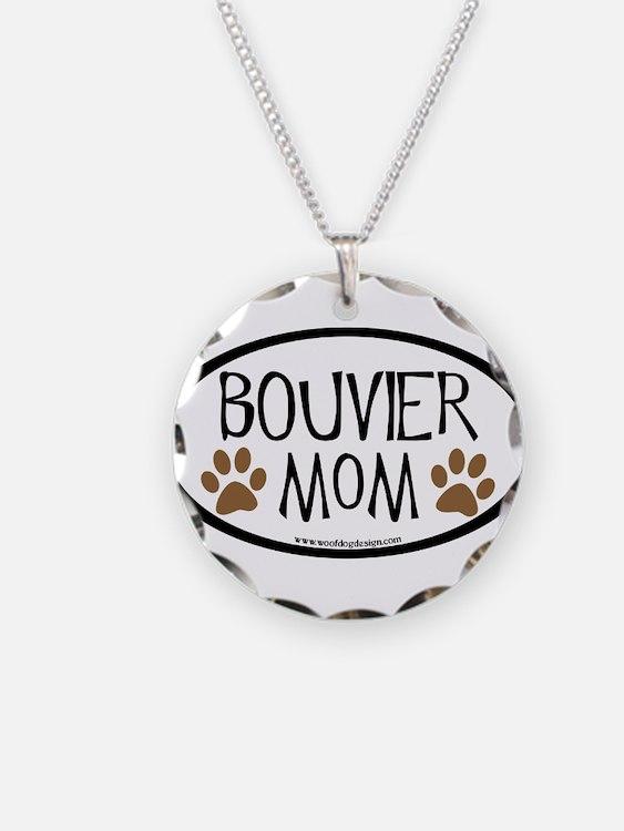 Bouvier Mom Oval Necklace