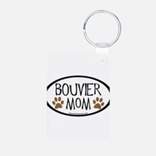 Bouvier Mom Oval Keychains