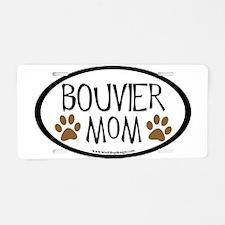 Bouvier Mom Oval Aluminum License Plate