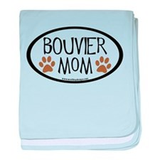Bouvier Mom Oval baby blanket