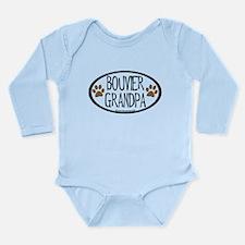 Bouvier Grandpa Oval Long Sleeve Infant Bodysuit