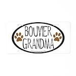 Bouvier Grandma Oval Aluminum License Plate