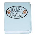 Bouvier Grandma Oval baby blanket