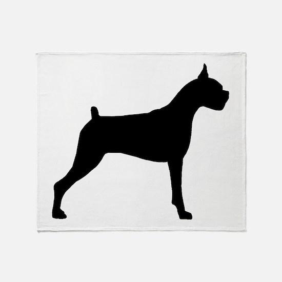 Boxer Dog Throw Blanket