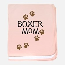 Boxer Mom baby blanket