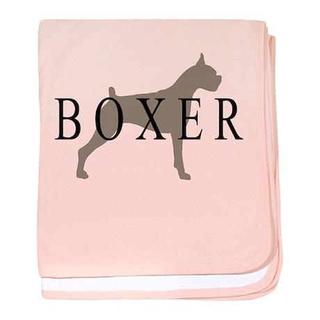 Boxer Dog Breed baby blanket