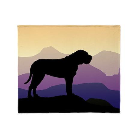 Purple Mountains Bullmastiff Throw Blanket
