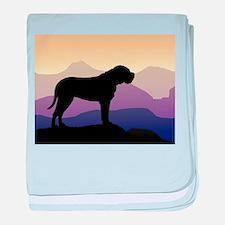Purple Mountains Bullmastiff baby blanket