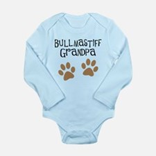 Bullmastiff Grandpa Long Sleeve Infant Bodysuit