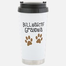 Bullmastiff Grandma Stainless Steel Travel Mug