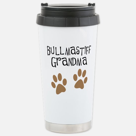 Bullmastiff Grandma Stainless Steel Travel Mug