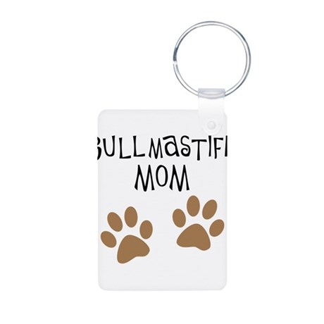 Bullmastiff Mom Aluminum Photo Keychain