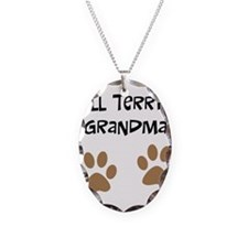 Big Paws Bull Terrier Mom Necklace Oval Charm