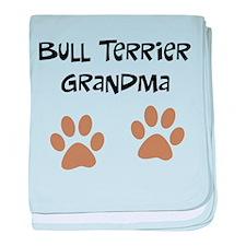 Big Paws Bull Terrier Mom baby blanket
