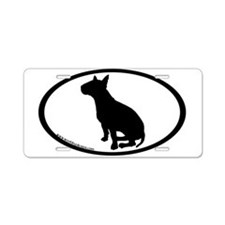Bull Terrier Oval Aluminum License Plate