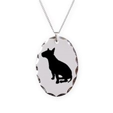 Bull Terrier Dog Breed Necklace Oval Charm