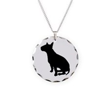 Bull Terrier Dog Breed Necklace Circle Charm