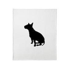 Bull Terrier Dog Breed Throw Blanket