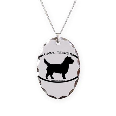 Cairn Terrier Oval #3 Necklace Oval Charm