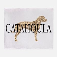Catahoula Leopard Dogs Throw Blanket